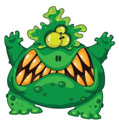 terrible green monster vector image vector image