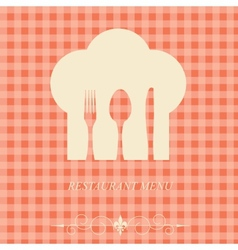 The concept of Restaurant menu on valentines day vector image vector image