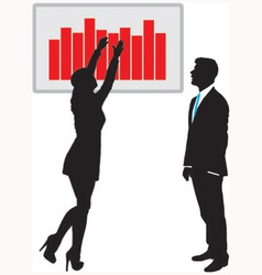 Traders governing graph vector image vector image