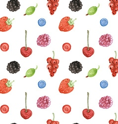 Watercolor berry in vintage style vector image