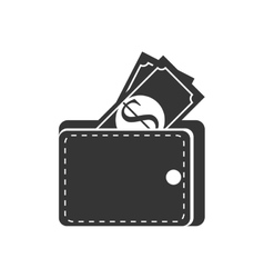 Bill money cash wallet vector
