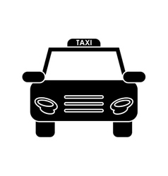 Isolated taxi vehicle design vector