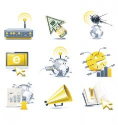 communication icon set internet vector image