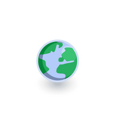 Earth planet isometric flat icon 3d vector