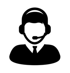 Customer care service and support icon vector