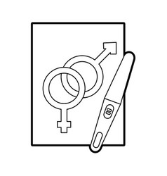 Paper with male and female symbol vector