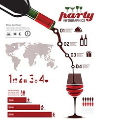 Infographics set and information party graphics vector