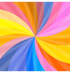 Retro Spiral Colorful Background vector image