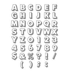 Block font vector