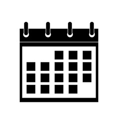 Icon of calendar vector