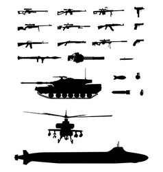 Weapons set vector