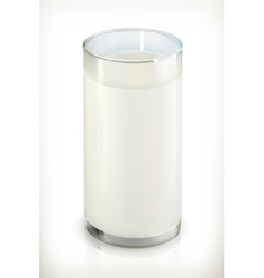 Glass of milk isolated object on white background vector