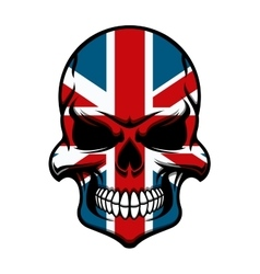 Skull tattoo with united kingdom flag pattern vector