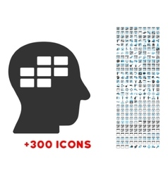 Schedule thinking icon vector