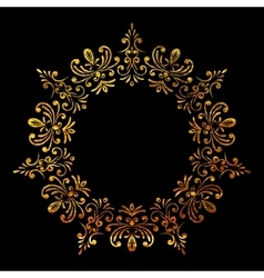 Elegant luxury retro floral gold frame vector image