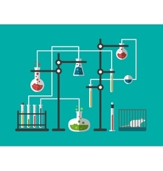 Laboratory design flat vector