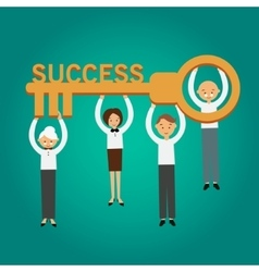 Key success business concept vector