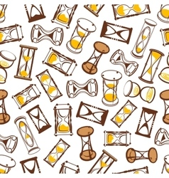 Abstract hourglasses seamless pattern background vector image vector image