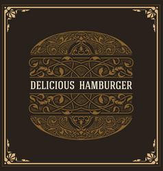 Baroque design of hamburgue vector