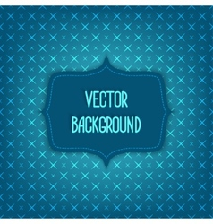 blue background with geometric seamless pattern vector image vector image