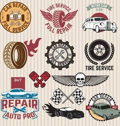 car servise labels vector image vector image