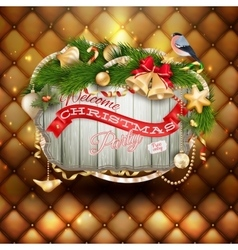 Christmas holiday background EPS 10 vector image vector image