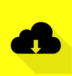Cloud technology sign black icon with flat style vector