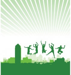 dancing background vector image vector image