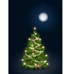 decorated Christmas tree on vector image vector image