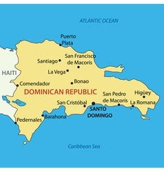 Dominican republic - map vector