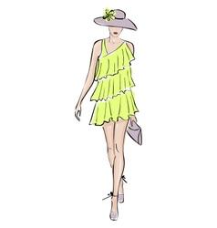 fashion model illustration vector image vector image