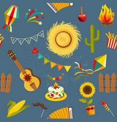 festa junina seamless pattern vector image vector image