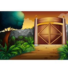 gate vector image vector image