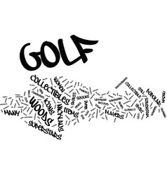 Golf collectibles from superstars text background vector