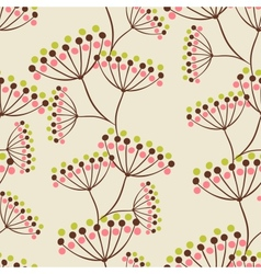 hand drawn flowers Seamless vector image vector image