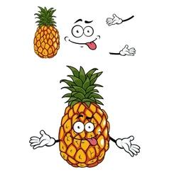 Happy cartoon tropical pineapple vector image vector image
