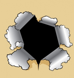 hole vector image