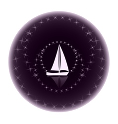 Logo yacht club on a dark background vector