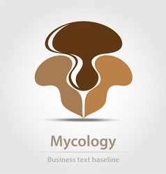 Mycology business icon vector