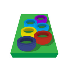Obstacle course for children vector