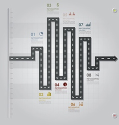 Road street business infographic design template vector