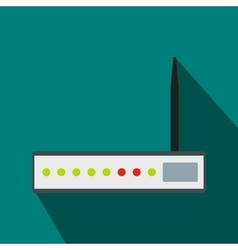 Router icon in flat style vector image