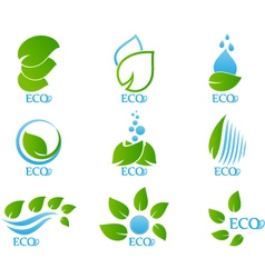 Set of ecology icon vector