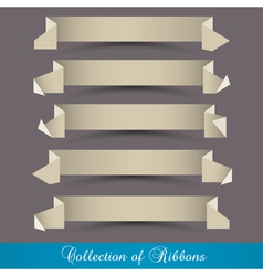 set of origami paper ribbons banners vector image vector image
