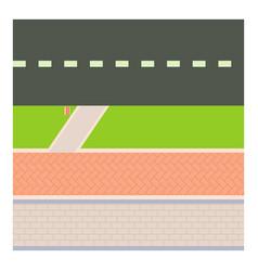Sidewalk icon cartoon style vector