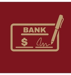 The check icon checkbook and cheque pay payment vector