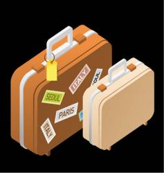travel suitcases vector image vector image