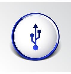 Usb icon file compartment hardware symbol vector