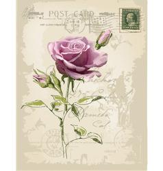 vintage postcard vector image
