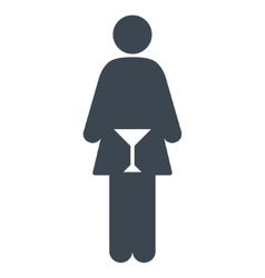 WC Woman Flat Icon vector image